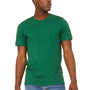 Bella + Canvas Mens Jersey Short Sleeve Crewneck T-Shirt - Heather Grass Green