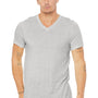 Bella + Canvas Mens Short Sleeve V-Neck T-Shirt - White Fleck