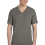 Bella + Canvas Mens Short Sleeve V-Neck T-Shirt - Grey