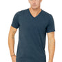 Bella + Canvas Mens Short Sleeve V-Neck T-Shirt - Steel Blue