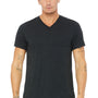 Bella + Canvas Mens Short Sleeve V-Neck T-Shirt - Charcoal Black