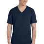 Bella + Canvas Mens Short Sleeve V-Neck T-Shirt - Navy Blue