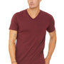 Bella + Canvas Mens Short Sleeve V-Neck T-Shirt - Cardinal Red