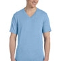 Bella + Canvas Mens Short Sleeve V-Neck T-Shirt - Blue