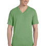 Bella + Canvas Mens Short Sleeve V-Neck T-Shirt - Green