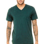 Bella + Canvas Mens Short Sleeve V-Neck T-Shirt - Emerald Green