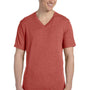 Bella + Canvas Mens Short Sleeve V-Neck T-Shirt - Clay Red