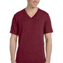 Bella + Canvas Mens Short Sleeve V-Neck T-Shirt - Maroon
