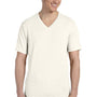 Bella + Canvas Mens Short Sleeve V-Neck T-Shirt - Oatmeal