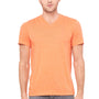 Bella + Canvas Mens Short Sleeve V-Neck T-Shirt - Orange