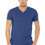 Bella + Canvas Mens Short Sleeve V-Neck T-Shirt - True Royal Blue