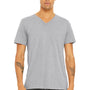 Bella + Canvas Mens Short Sleeve V-Neck T-Shirt - Athletic Grey