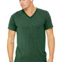Bella + Canvas Mens Short Sleeve V-Neck T-Shirt - Grass Green