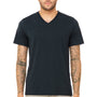 Bella + Canvas Mens Short Sleeve V-Neck T-Shirt - Solid Navy Blue