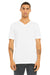 Bella + Canvas 3415C Mens Short Sleeve V-Neck T-Shirt White Front