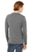 Bella + Canvas 3425 Mens Jersey Long Sleeve V-Neck T-Shirt Grey Back