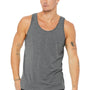 Bella + Canvas Mens Heather Deep Grey Jersey Tank Top