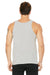 Bella + Canvas 3480 Mens Jersey Tank Top Silver Grey Back
