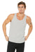 Bella + Canvas 3480 Mens Jersey Tank Top Silver Grey Front