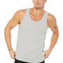 Bella + Canvas Mens Silver Grey Jersey Tank Top