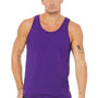 Bella + Canvas Mens Purple Jersey Tank Top