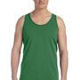 Bella + Canvas Mens Leaf Green Jersey Tank Top