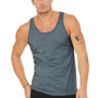 Bella + Canvas Mens Heather Slate Blue Jersey Tank Top