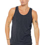 Bella + Canvas Mens Heather Navy Blue Jersey Tank Top