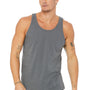 Bella + Canvas Mens Asphalt Grey Jersey Tank Top