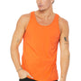 Bella + Canvas Mens Orange Jersey Tank Top