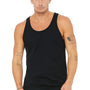 Bella + Canvas Mens Black Jersey Tank Top