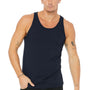 Bella + Canvas Mens Navy Blue Jersey Tank Top