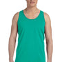 Bella + Canvas Mens Teal Blue Jersey Tank Top