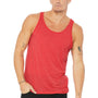 Bella + Canvas Mens Red Triblend Jersey Tank Top