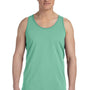 Bella + Canvas Mens Green Triblend Jersey Tank Top