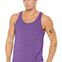 Bella + Canvas Mens Purple Triblend Jersey Tank Top