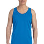 Bella + Canvas Mens Neon Blue Jersey Tank Top