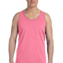 Bella + Canvas Mens Neon Pink Jersey Tank Top