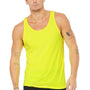 Bella + Canvas Mens Neon Yellow Jersey Tank Top