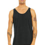 Bella + Canvas Mens Charcoal Black Triblend Jersey Tank Top