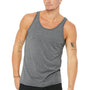 Bella + Canvas Mens Jersey Tank Top - Grey Triblend