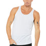 Bella + Canvas Mens White Fleck Triblend Jersey Tank Top
