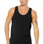 Bella + Canvas Mens Heather Black Jersey Tank Top