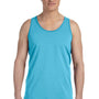 Bella + Canvas Mens Aqua Blue Jersey Tank Top