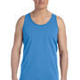 Bella + Canvas Mens True Royal Blue Triblend Jersey Tank Top