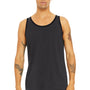 Bella + Canvas Mens Dark Grey/Black Jersey Tank Top