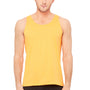 Bella + Canvas Mens Neon Orange Jersey Tank Top