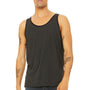 Bella + Canvas Mens Charcoal Black/Solid Black Jersey Tank Top
