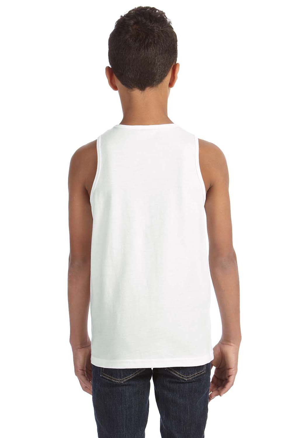 Bella + Canvas 3480Y Youth Jersey Tank Top White Back