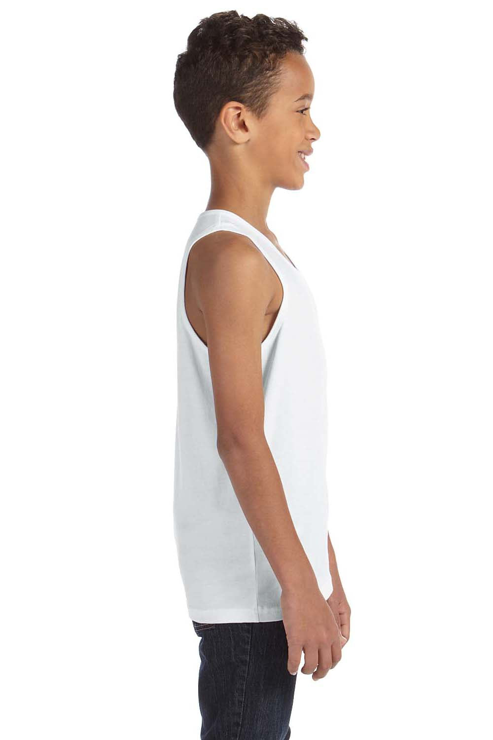 Bella + Canvas 3480Y Youth Jersey Tank Top White Side